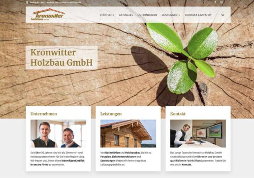 Webseite kronwitter-holzbau.de